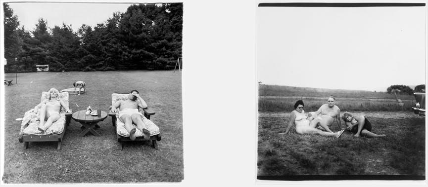 To sort/hvitt fotografier av Diane Arbus