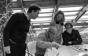 Olav Selvaag og Gunnar Kvaran på besøk hos Renzo Piano